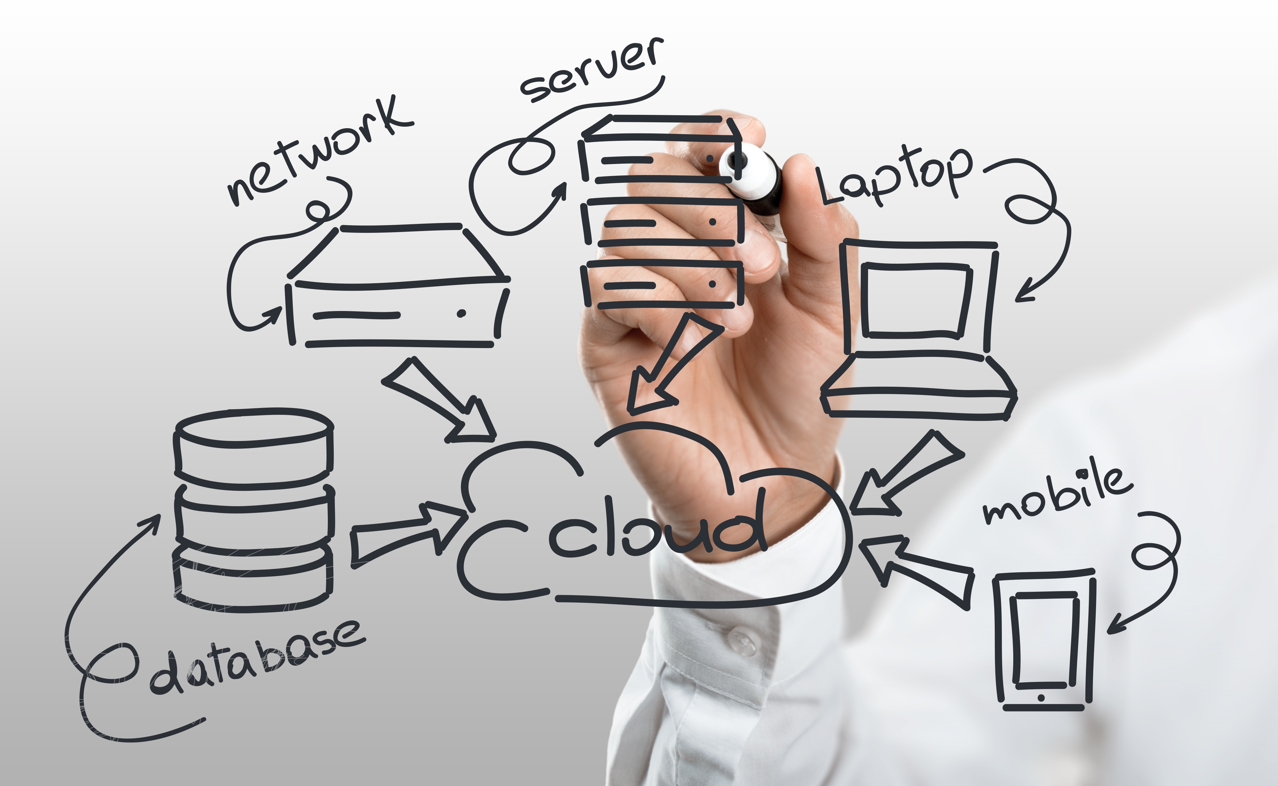 Cloud, information, concept.